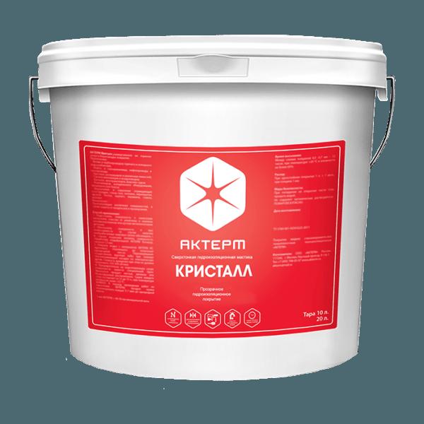 АКТЕРМ Кристалл™ — Прозрачное гидроизоляционное покрытие (10 литров)