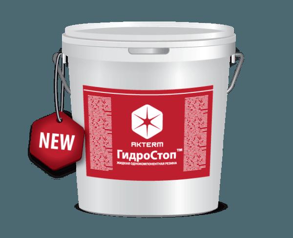 АКТЕРМ ГидроСтоп™ — Однокомпонентная акриловая мастика (10 литров)