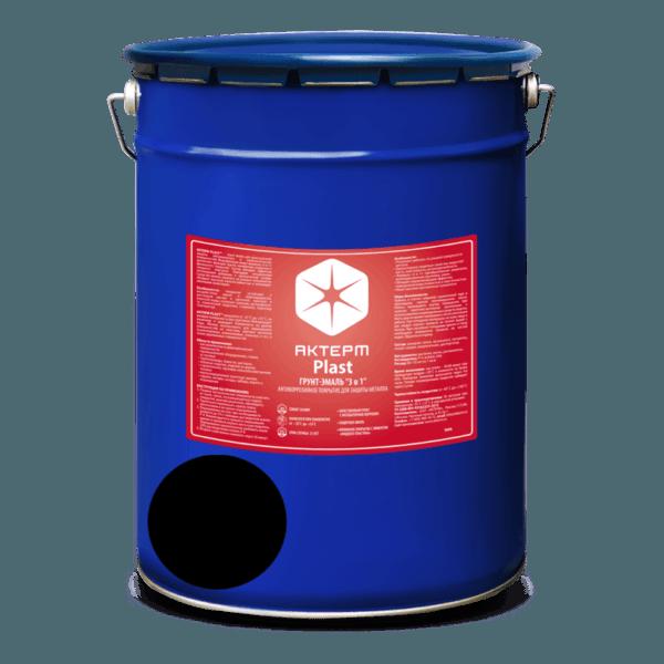АКТЕРМ Plast ™ — Грунт-эмаль по ржавчине 3 в 1 (5 кг) (Цвет: Черный)